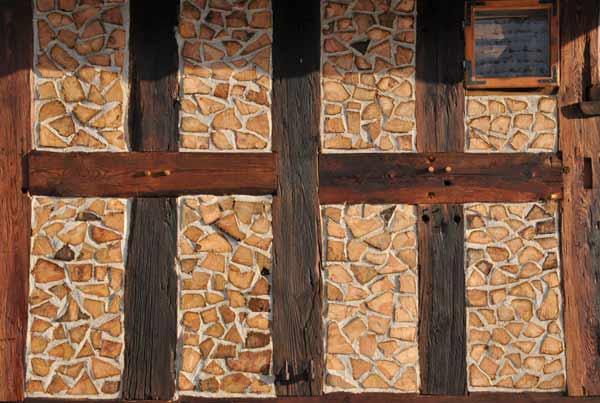 Wypełnienie ściany ryglowej